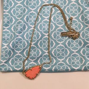 Peach Kendra Scott necklace